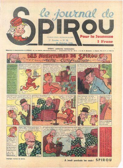 Cover for Le Journal de Spirou (Dupuis, 1938 series) #28/1938