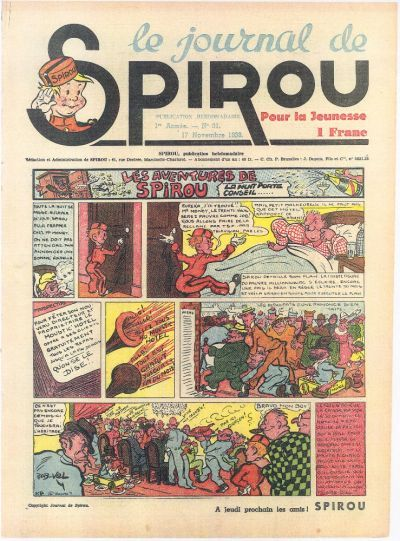 Cover for Le Journal de Spirou (Dupuis, 1938 series) #31/1938