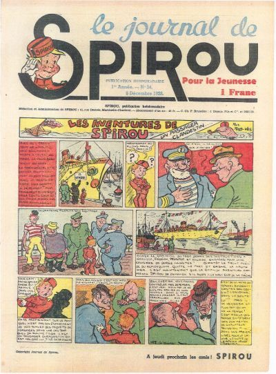 Cover for Le Journal de Spirou (Dupuis, 1938 series) #34/1938