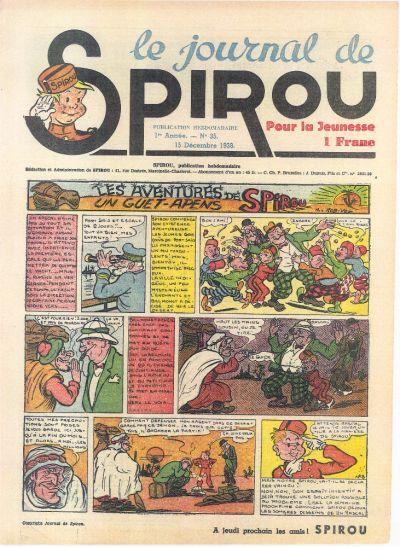 Cover for Le Journal de Spirou (Dupuis, 1938 series) #35/1938