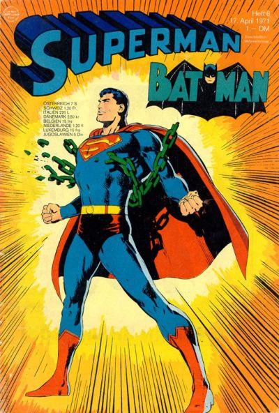 Cover for Superman (Egmont Ehapa, 1966 series) #8/1971