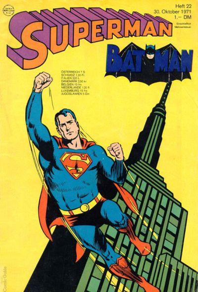 Cover for Superman (Egmont Ehapa, 1966 series) #22/1971