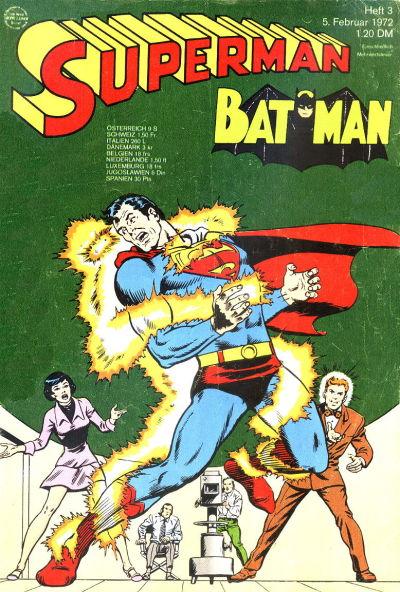Cover for Superman (Egmont Ehapa, 1966 series) #3/1972