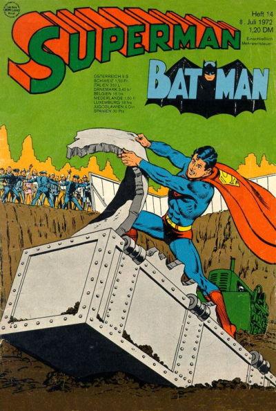 Cover for Superman (Egmont Ehapa, 1966 series) #14/1972