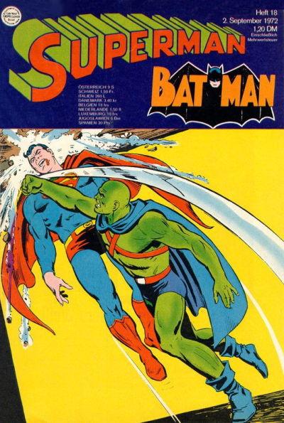 Cover for Superman (Egmont Ehapa, 1966 series) #18/1972