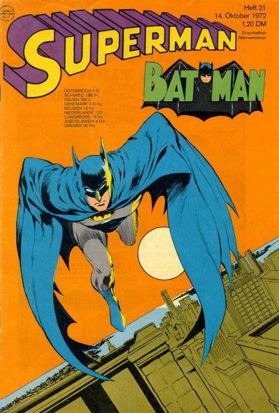 Cover for Superman (Egmont Ehapa, 1966 series) #21/1972