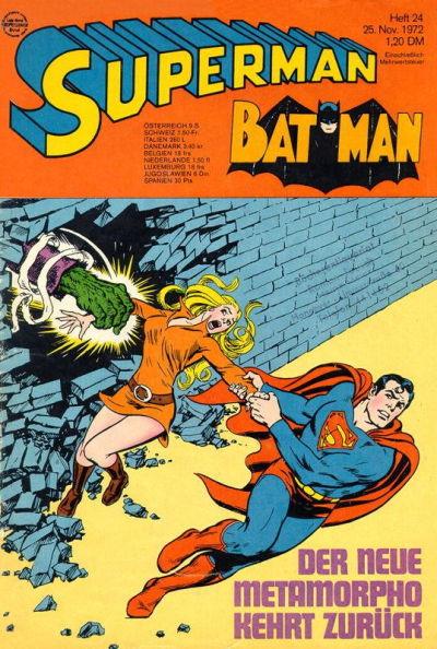 Cover for Superman (Egmont Ehapa, 1966 series) #24/1972