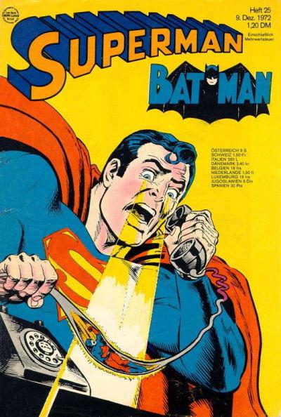 Cover for Superman (Egmont Ehapa, 1966 series) #25/1972