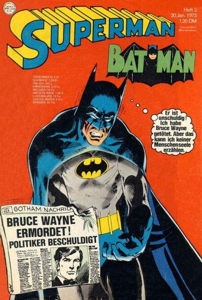 Cover for Superman (Egmont Ehapa, 1966 series) #2/1973