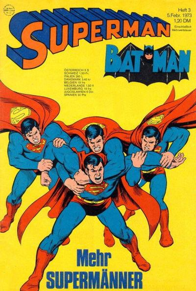 Cover for Superman (Egmont Ehapa, 1966 series) #3/1973