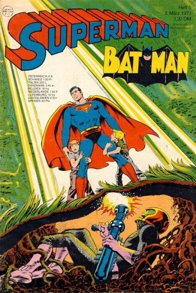 Cover for Superman (Egmont Ehapa, 1966 series) #5/1973