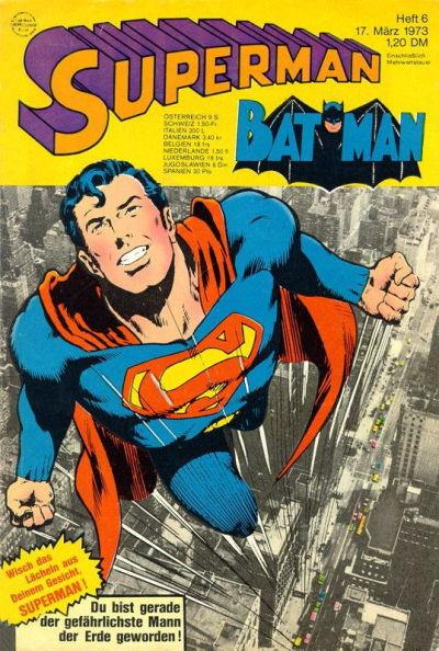 Cover for Superman (Egmont Ehapa, 1966 series) #6/1973