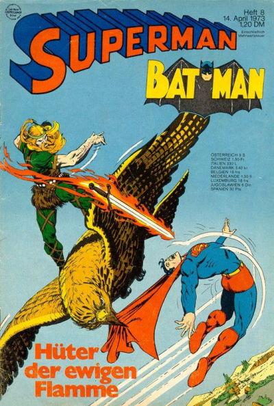 Cover for Superman (Egmont Ehapa, 1966 series) #8/1973