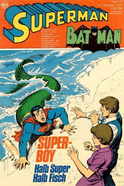 Cover for Superman (Egmont Ehapa, 1966 series) #21/1973