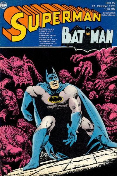 Cover for Superman (Egmont Ehapa, 1966 series) #22/1973