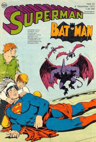 Cover for Superman (Egmont Ehapa, 1966 series) #25/1973
