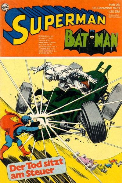 Cover for Superman (Egmont Ehapa, 1966 series) #26/1973