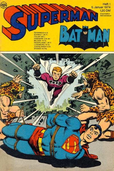 Cover for Superman (Egmont Ehapa, 1966 series) #1/1974