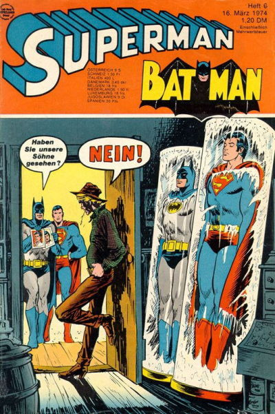 Cover for Superman (Egmont Ehapa, 1966 series) #6/1974