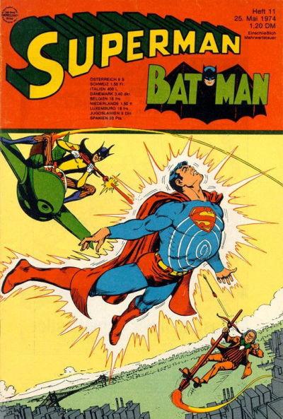 Cover for Superman (Egmont Ehapa, 1966 series) #11/1974