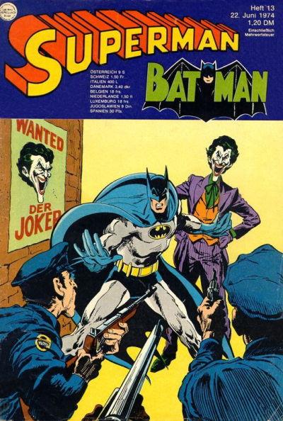Cover for Superman (Egmont Ehapa, 1966 series) #13/1974