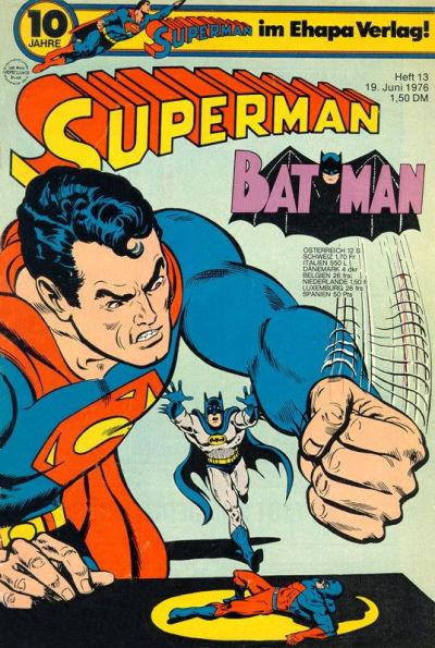 Cover for Superman (Egmont Ehapa, 1966 series) #13/1976