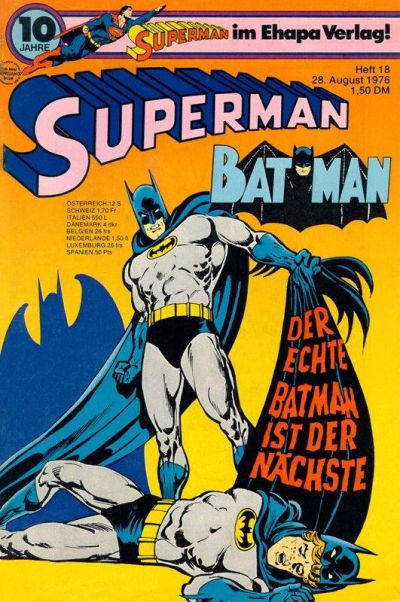 Cover for Superman (Egmont Ehapa, 1966 series) #18/1976