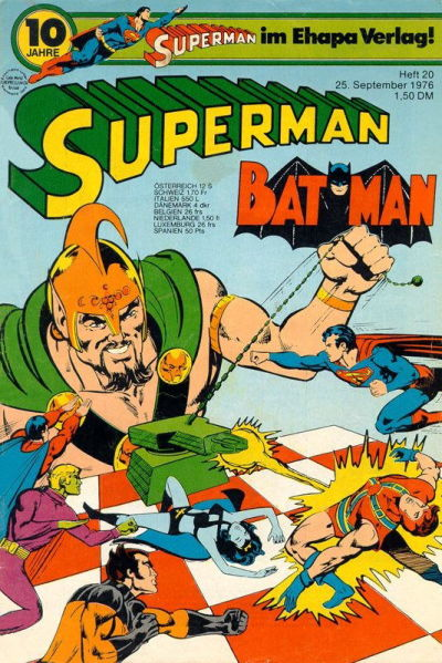 Cover for Superman (Egmont Ehapa, 1966 series) #20/1976