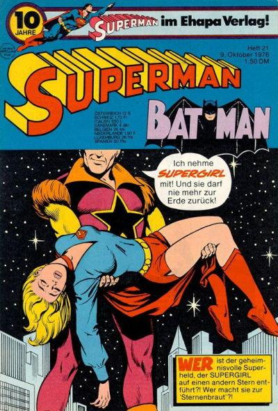 Cover for Superman (Egmont Ehapa, 1966 series) #21/1976