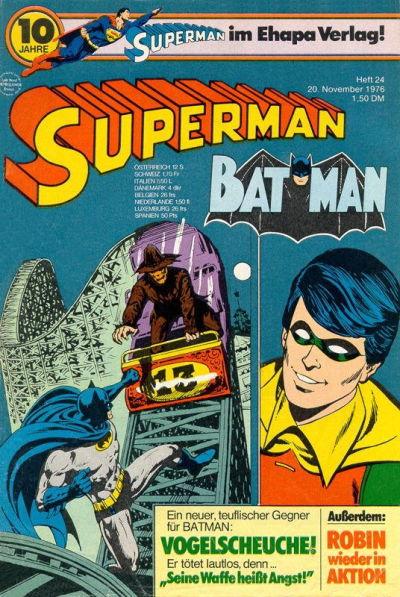 Cover for Superman (Egmont Ehapa, 1966 series) #24/1976