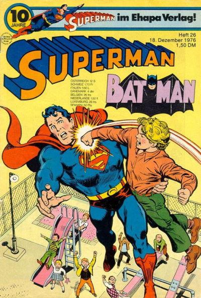Cover for Superman (Egmont Ehapa, 1966 series) #26/1976