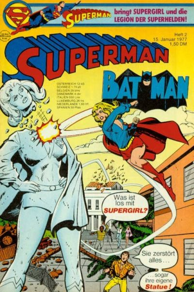 Cover for Superman (Egmont Ehapa, 1966 series) #2/1977