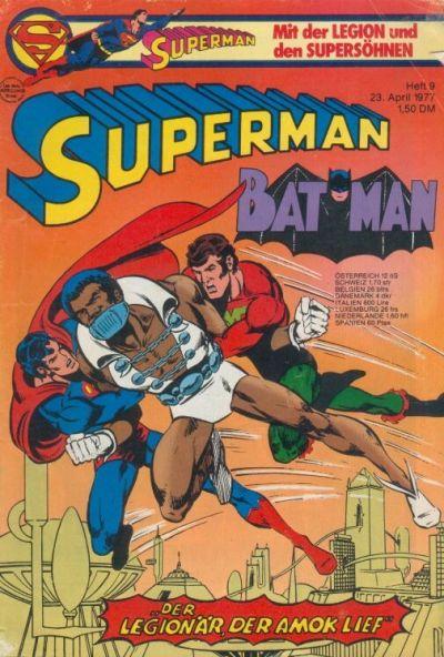 Cover for Superman (Egmont Ehapa, 1966 series) #9/1977