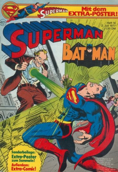 Cover for Superman (Egmont Ehapa, 1966 series) #14/1977