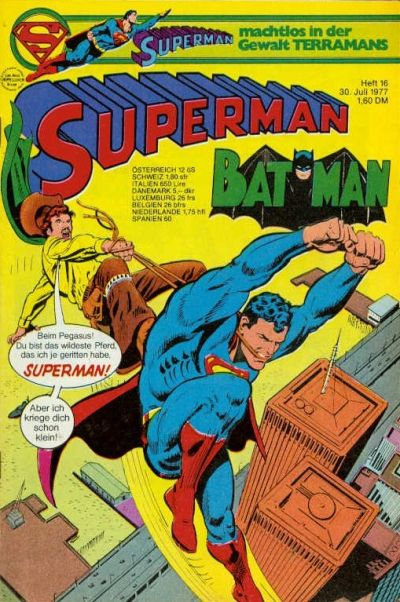 Cover for Superman (Egmont Ehapa, 1966 series) #16/1977