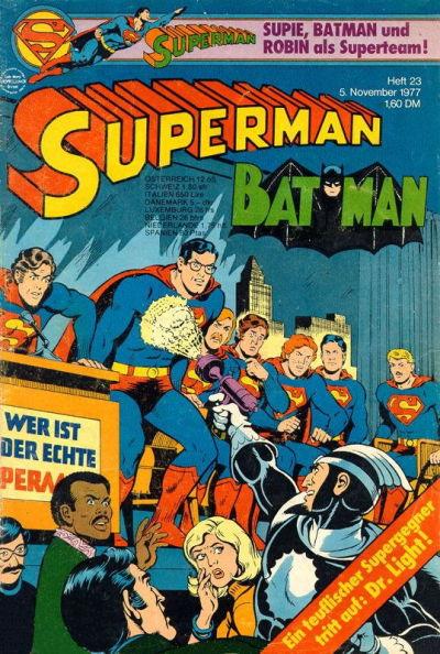 Cover for Superman (Egmont Ehapa, 1966 series) #23/1977