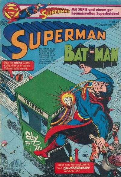 Cover for Superman (Egmont Ehapa, 1966 series) #26/1977