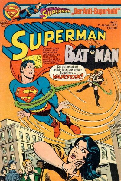 Cover for Superman (Egmont Ehapa, 1966 series) #1/1978