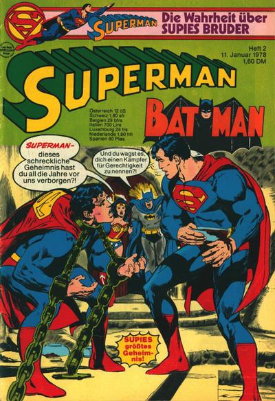 Cover for Superman (Egmont Ehapa, 1966 series) #2/1978