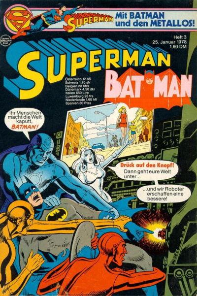 Cover for Superman (Egmont Ehapa, 1966 series) #3/1978