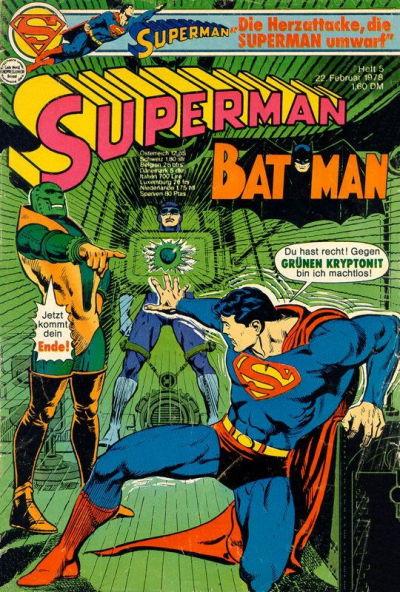 Cover for Superman (Egmont Ehapa, 1966 series) #5/1978