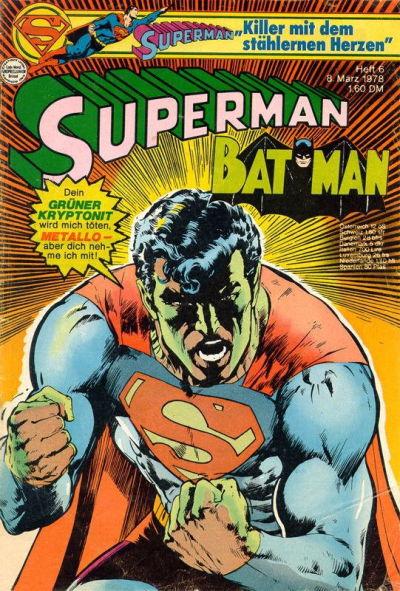 Cover for Superman (Egmont Ehapa, 1966 series) #6/1978