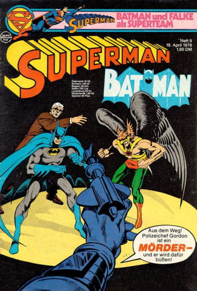 Cover for Superman (Egmont Ehapa, 1966 series) #9/1978
