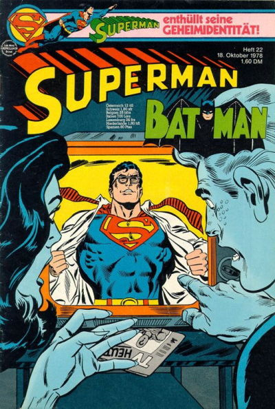 Cover for Superman (Egmont Ehapa, 1966 series) #22/1978
