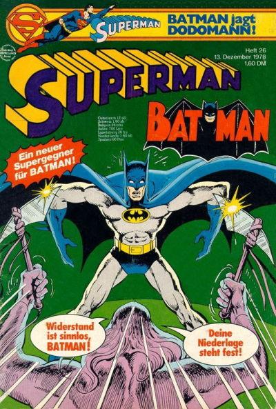 Cover for Superman (Egmont Ehapa, 1966 series) #26/1978