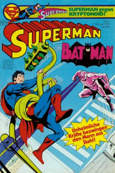 Cover for Superman (Egmont Ehapa, 1966 series) #4/1979