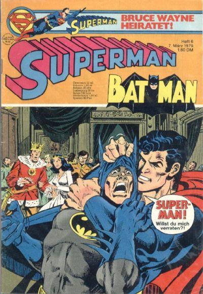 Cover for Superman (Egmont Ehapa, 1966 series) #6/1979