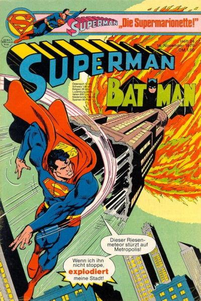 Cover for Superman (Egmont Ehapa, 1966 series) #24/1979