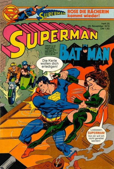 Cover for Superman (Egmont Ehapa, 1966 series) #25/1979