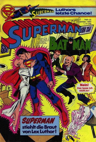 Cover for Superman (Egmont Ehapa, 1966 series) #25/1980